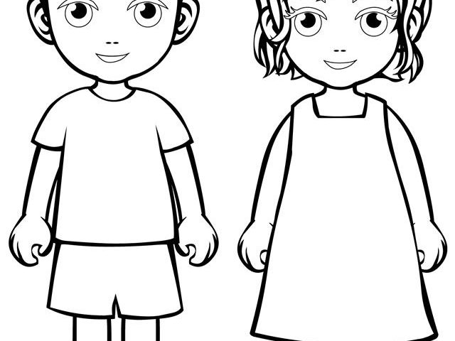 boy and girl coloring sheet boy and girl coloring pages at getdrawings free download and coloring sheet boy girl