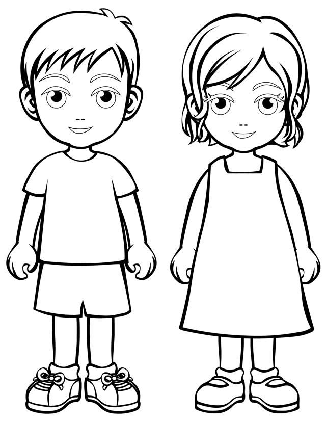 boy and girl coloring sheet girl and boy with ball coloring page stock illustration and coloring sheet boy girl