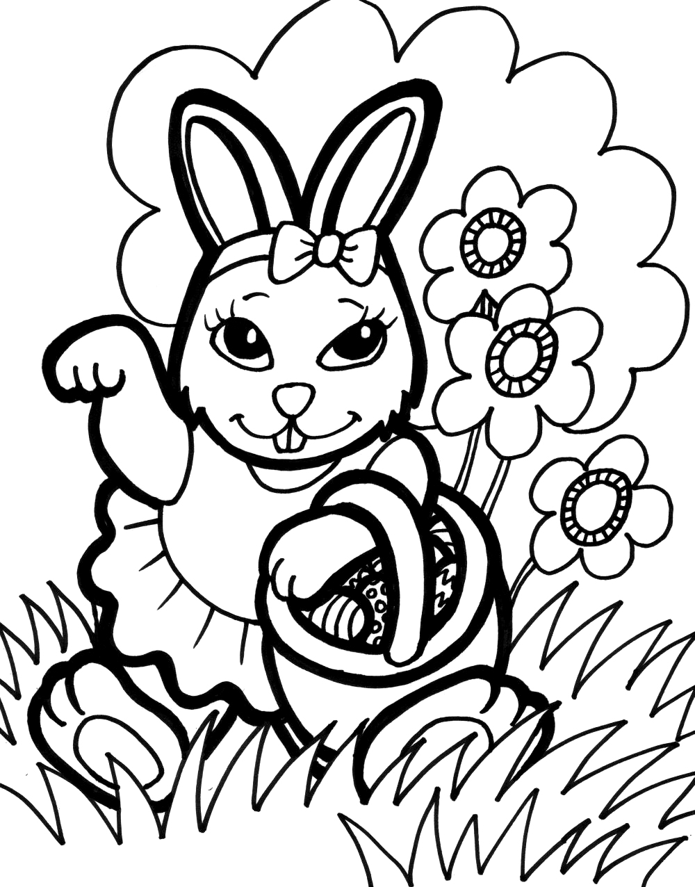 bunny coloring book rabbit free to color for kids rabbit kids coloring pages book bunny coloring