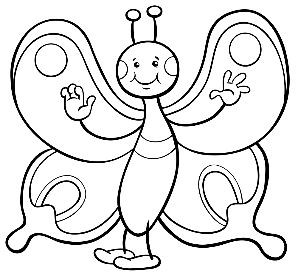 butterflies coloring page cute butterfly coloring pages at getdrawings free download coloring butterflies page