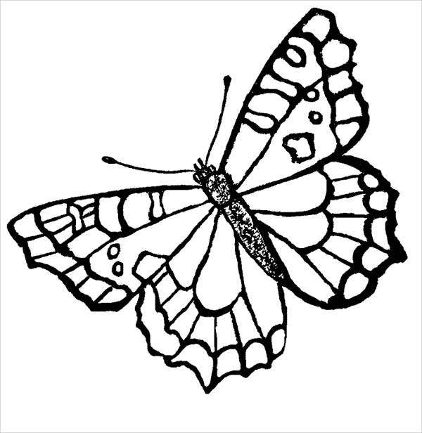 butterfly coloring template butterflies free coloring pages butterfly coloring template