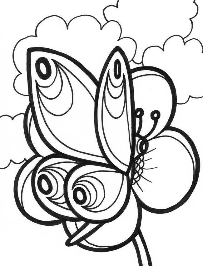 butterfly coloring template cute butterfly coloring pages for adults coloring home template coloring butterfly