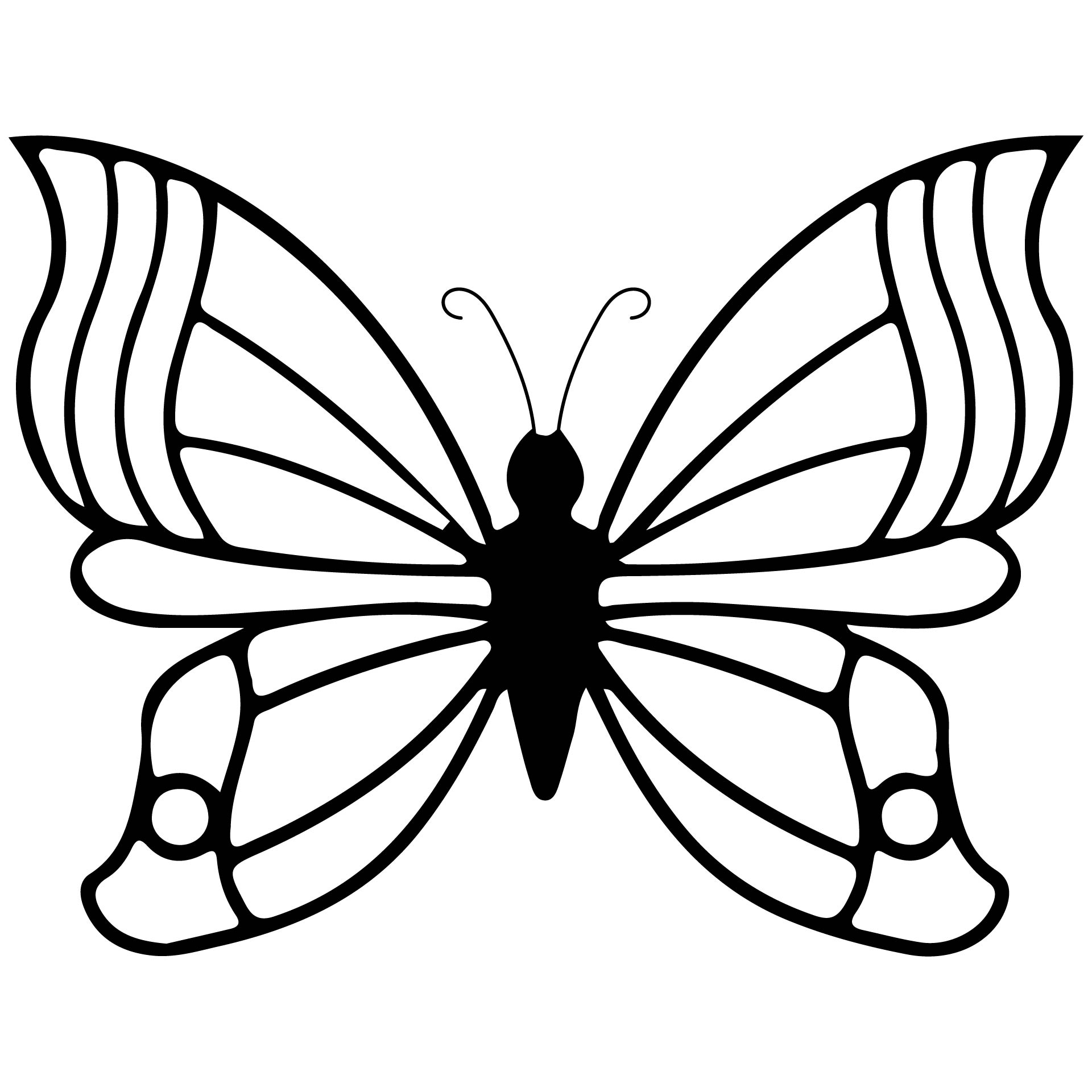 butterfly coloring template free printable butterfly coloring pages for kids butterfly coloring template