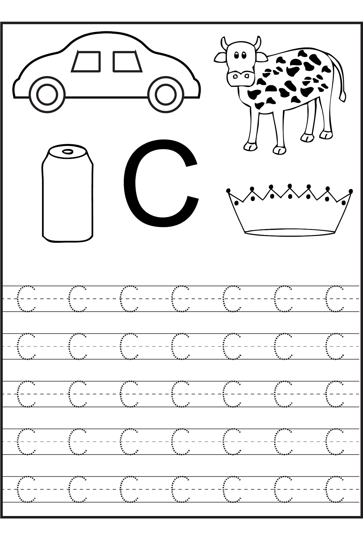 c coloring worksheet learn the letter c with fluffy and ivy worksheet c coloring