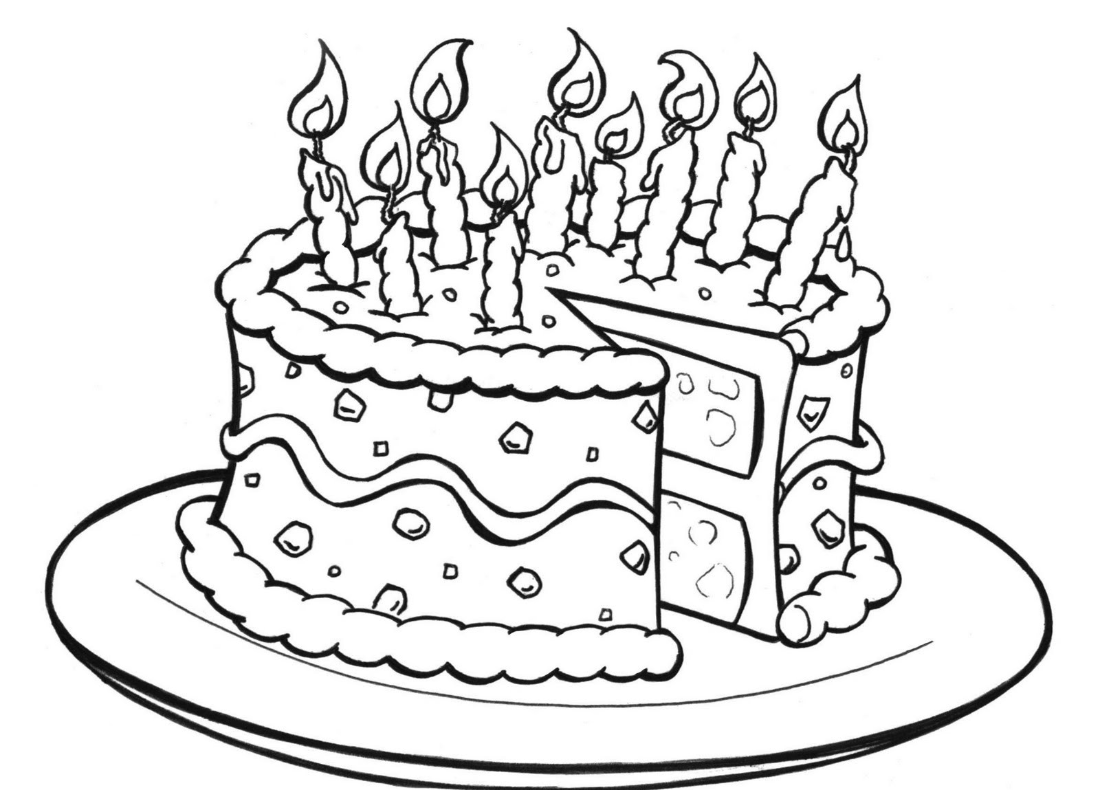 cake printables for coloring free printable birthday cake coloring pages for kids printables for cake coloring