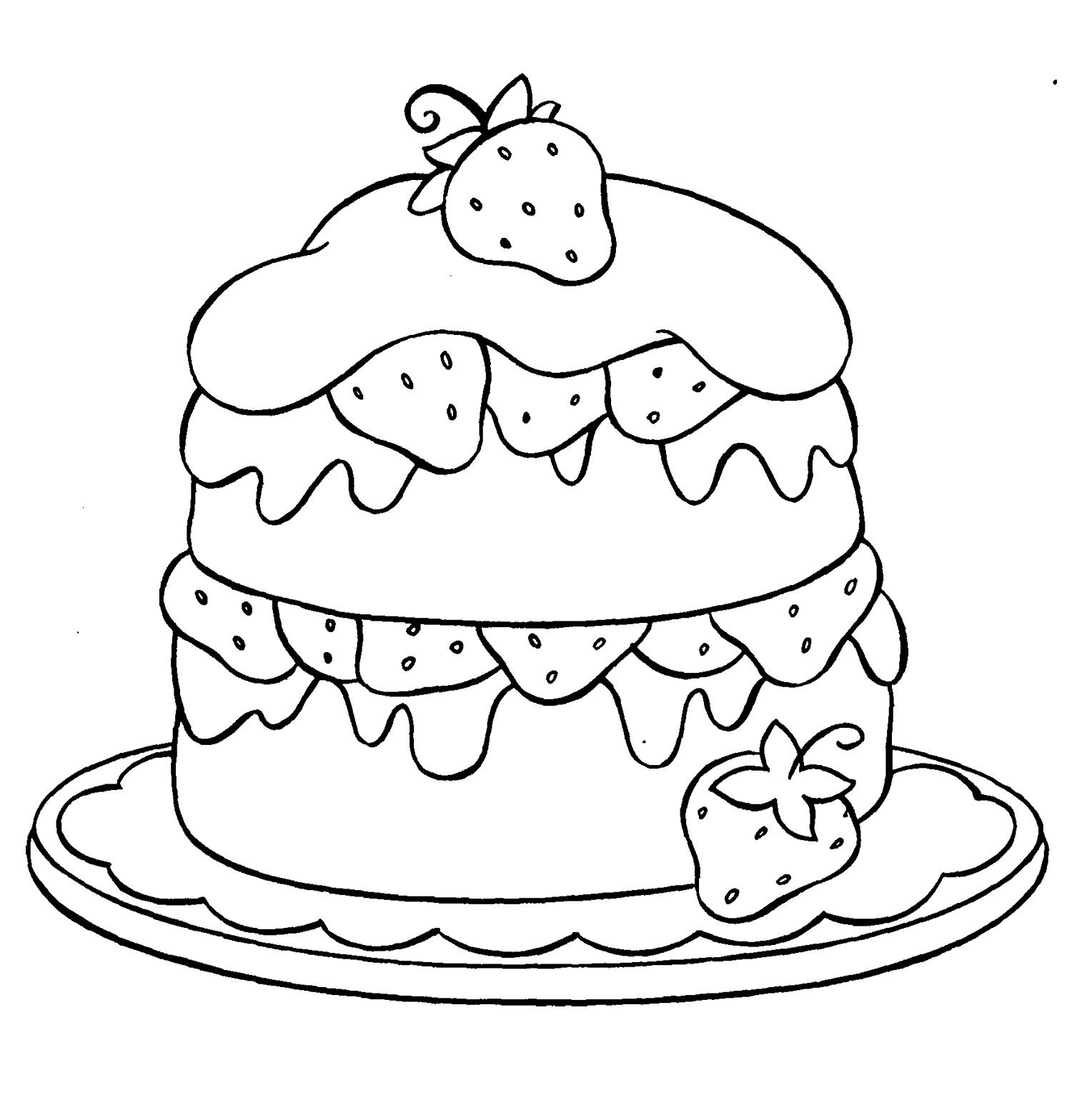 cake printables for coloring strawberry coloring pages best coloring pages for kids printables cake for coloring