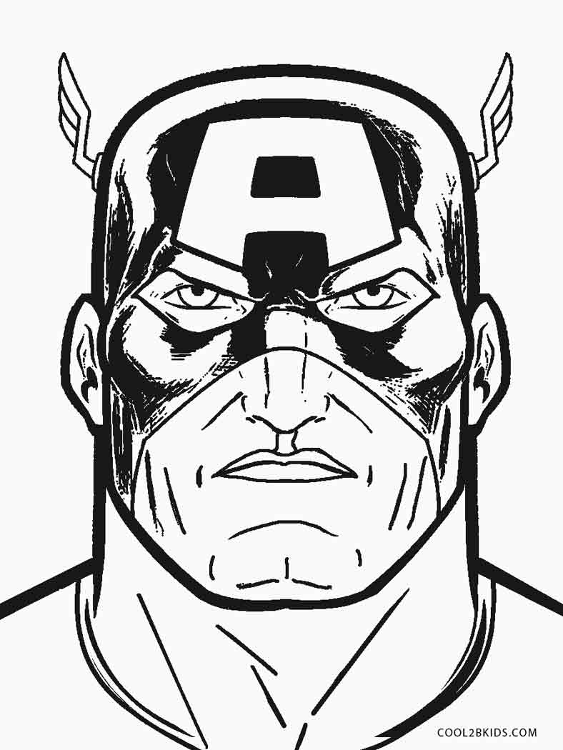 captain america mask coloring pages free printable captain america coloring pages for kids captain coloring mask america pages