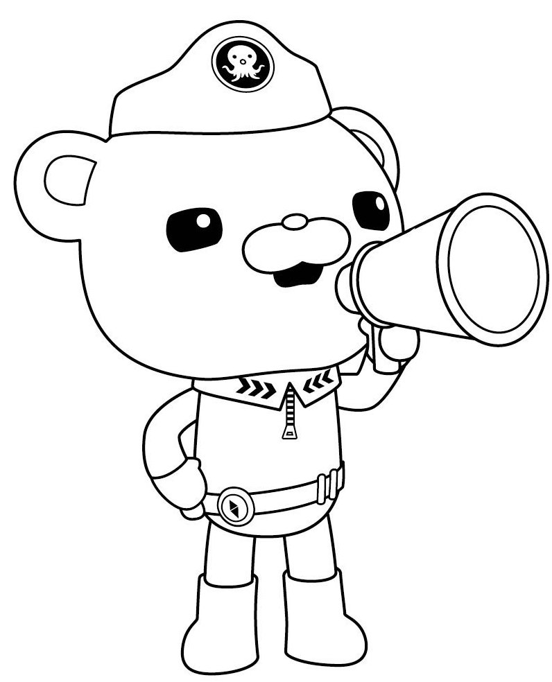 captain barnacles coloring pages captain barnacles of the octonauts and megafon coloring pages coloring captain barnacles