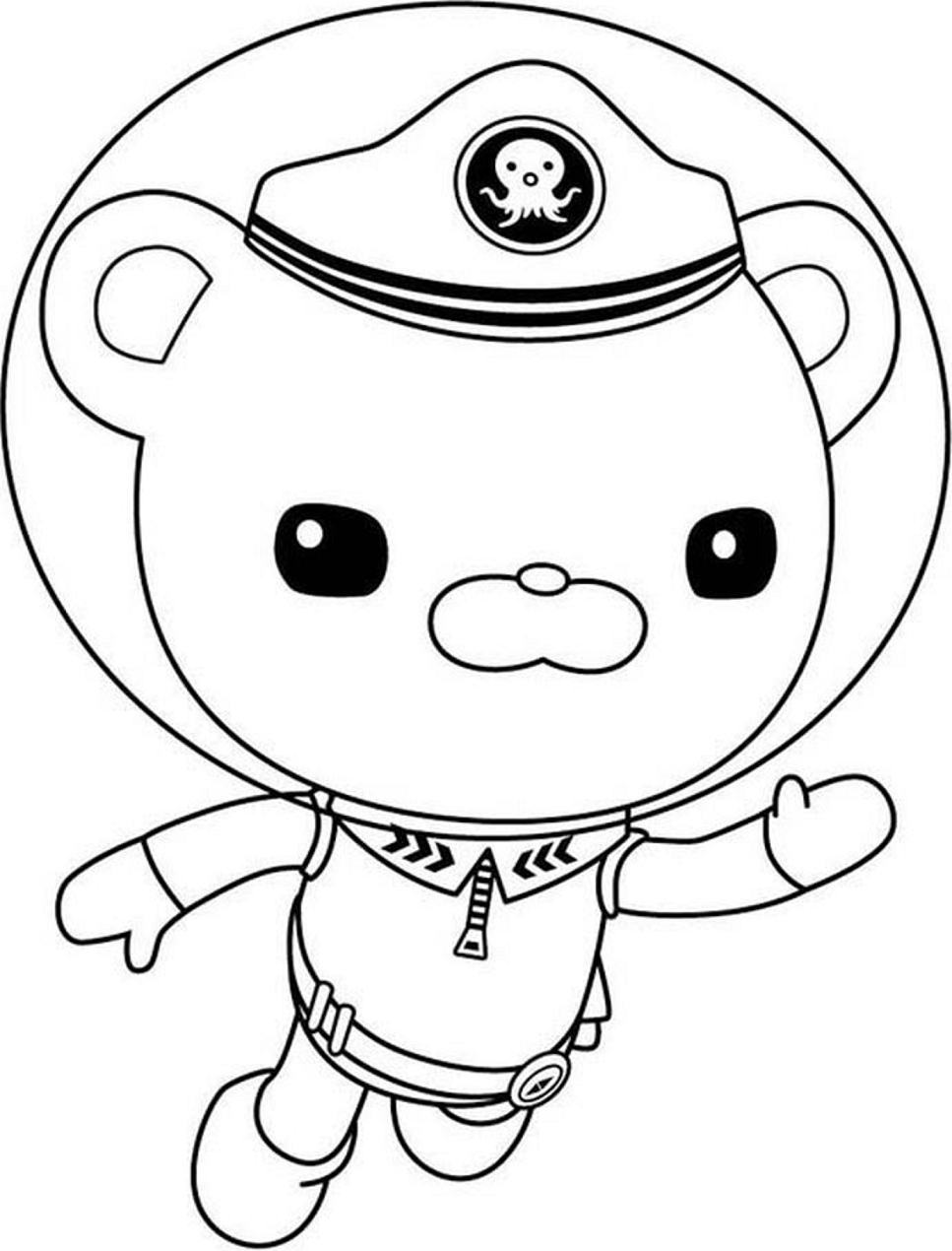 captain barnacles coloring pages captain barnacles standing in the octonauts coloring page captain barnacles coloring pages