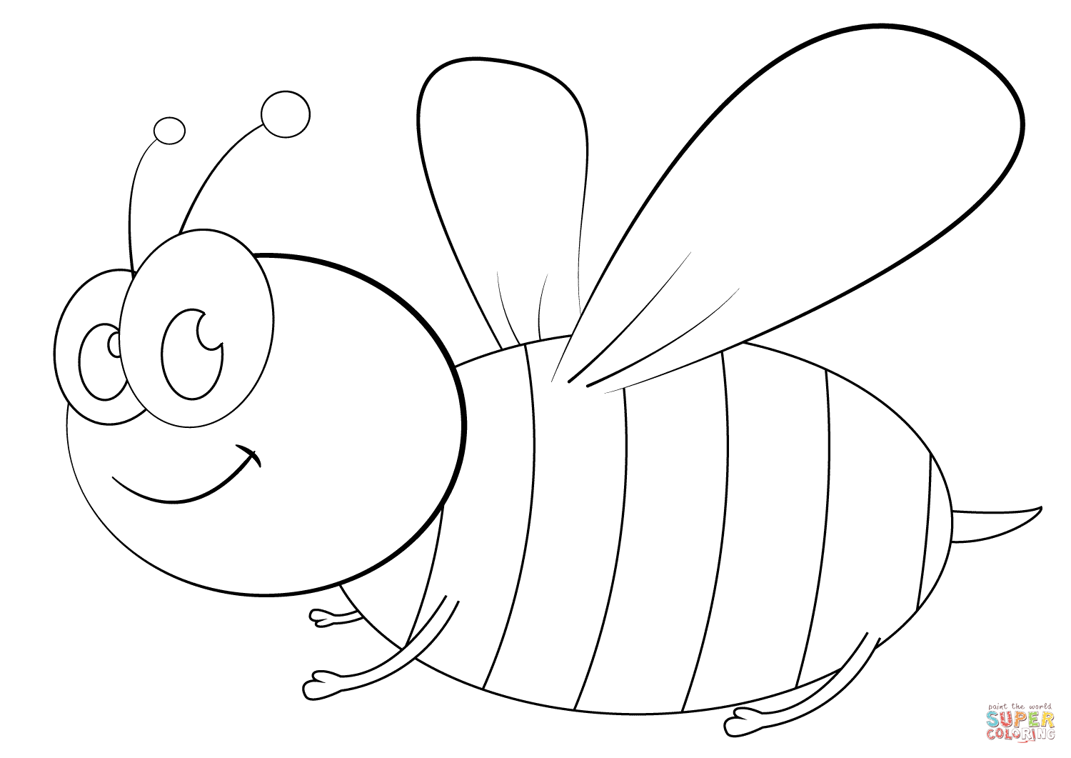 cartoon bumble bee coloring pages bee coloring page wecoloringpagecom bee cartoon bumble pages coloring