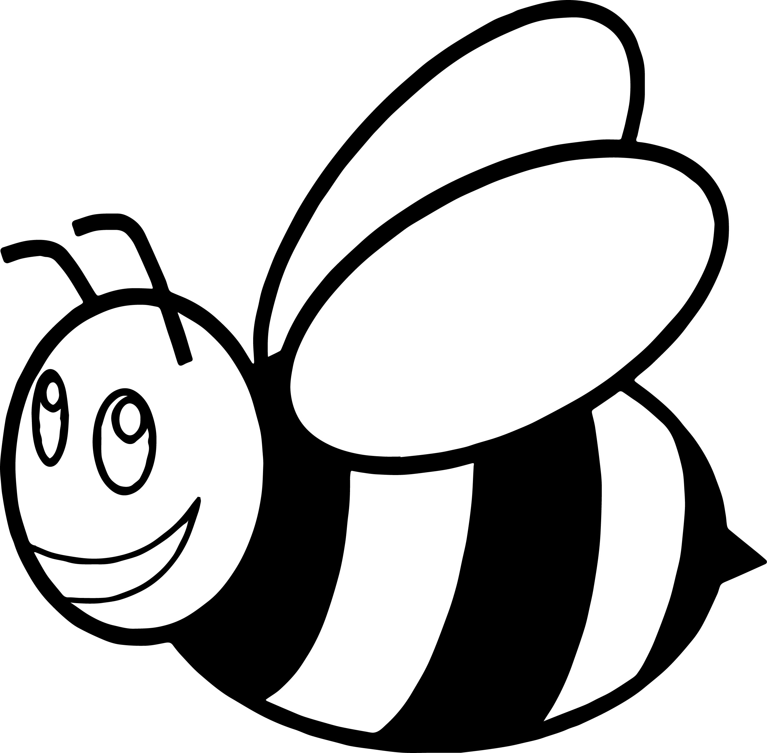 cartoon bumble bee coloring pages bumblebee insect coloring pages coloring pages to bee bumble cartoon coloring pages