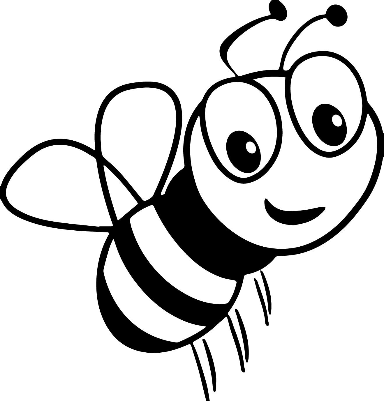 cartoon bumble bee coloring pages cartoon bee coloring page free printable coloring pages coloring pages bee bumble cartoon