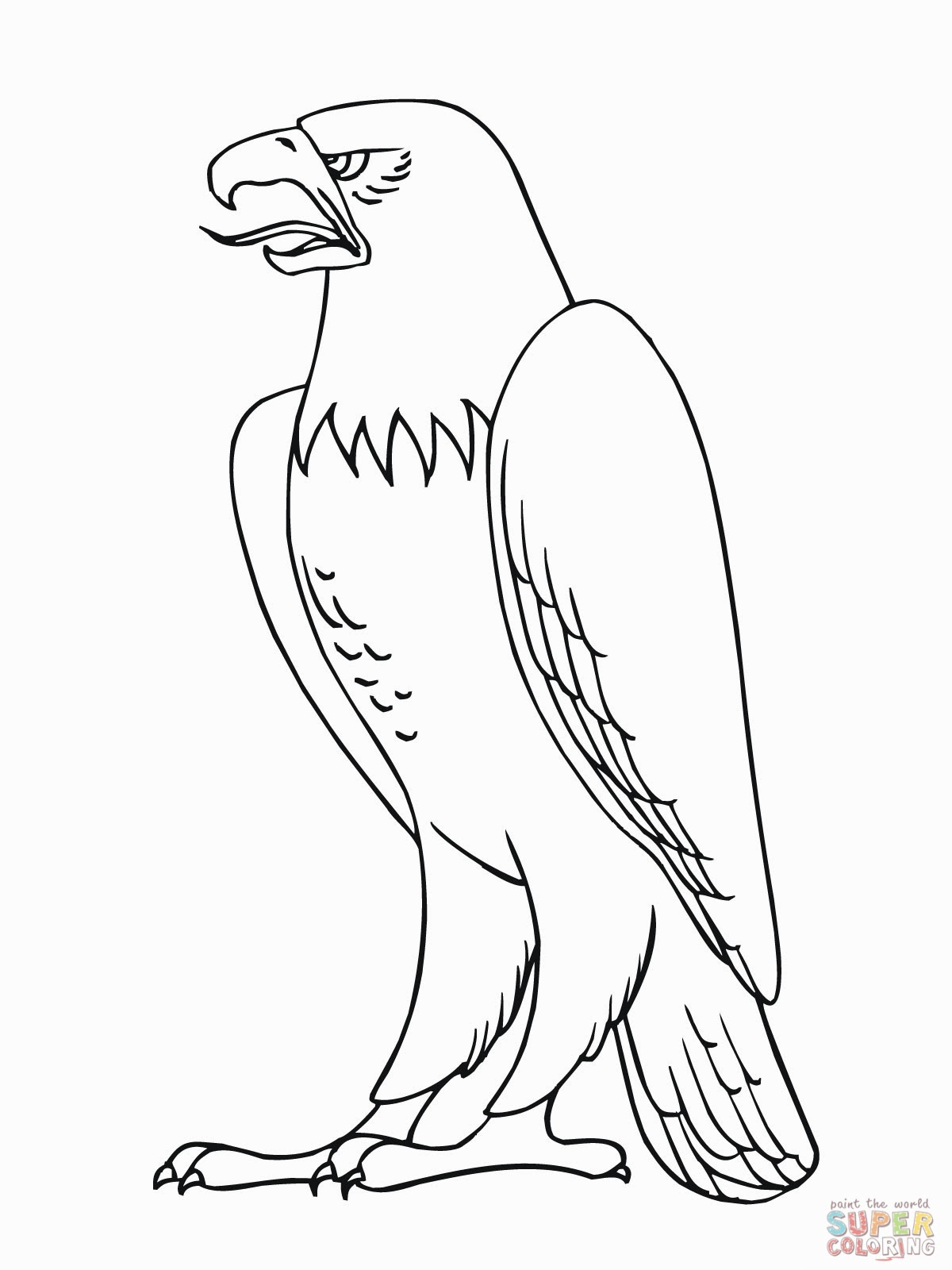 cartoon eagle coloring pages tribal eagle colouring pages page 2 clipart best pages cartoon eagle coloring