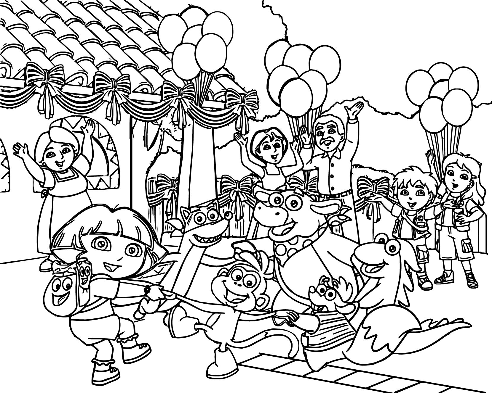cartoon family coloring pages coloring family vector stock vector illustration of coloring pages cartoon family