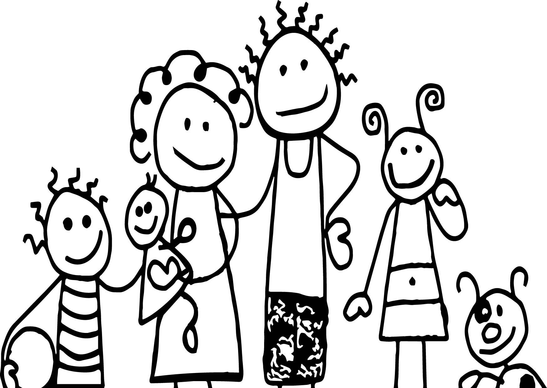 cartoon family coloring pages family clipart black and white iammrfostercom coloring family cartoon pages