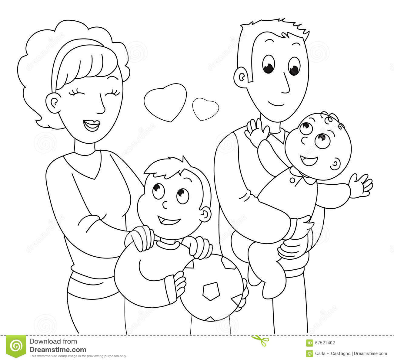 cartoon family coloring pages family drawing cartoon at getdrawings free download family pages cartoon coloring