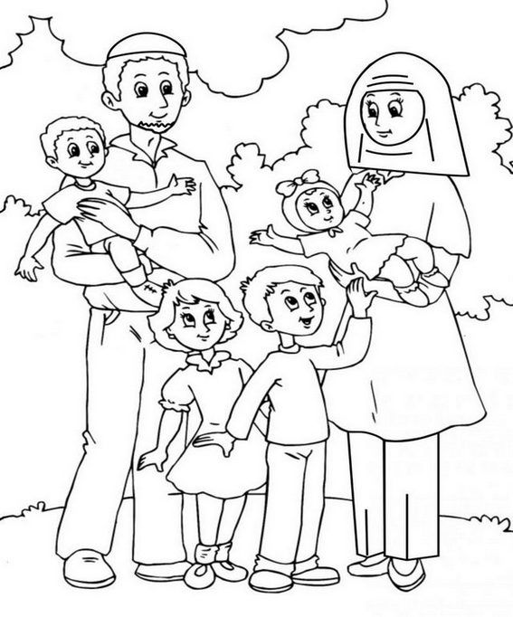 cartoon family coloring pages hand drawn of happy family coloring stock vector family pages cartoon coloring