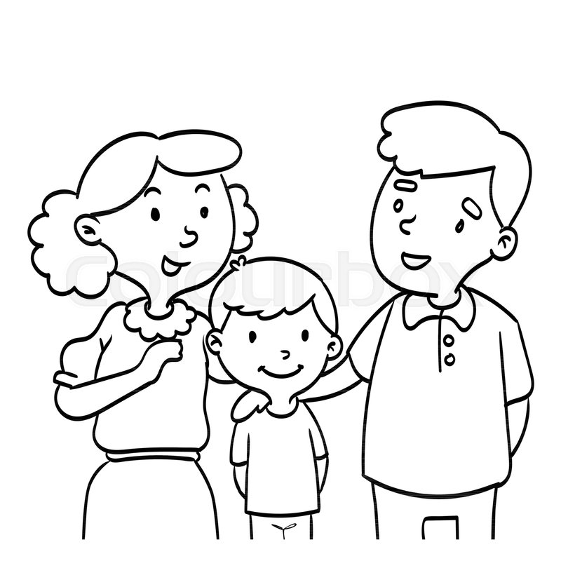 cartoon family coloring pages printable mothers day with happy family coloring page coloring pages cartoon family