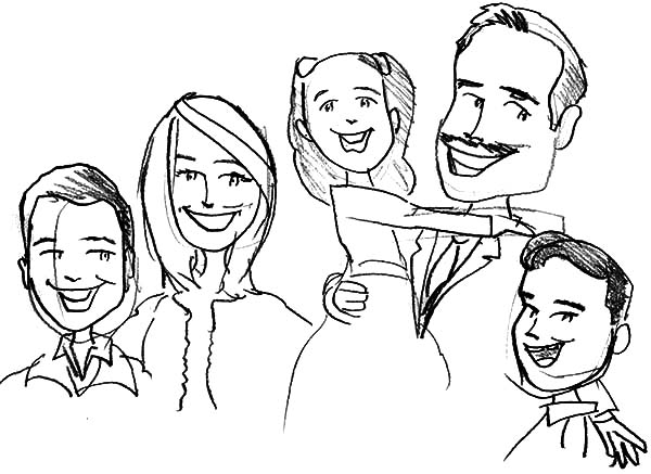 cartoon family coloring pages vector of a cartoon family going on a picnic outlined cartoon coloring family pages