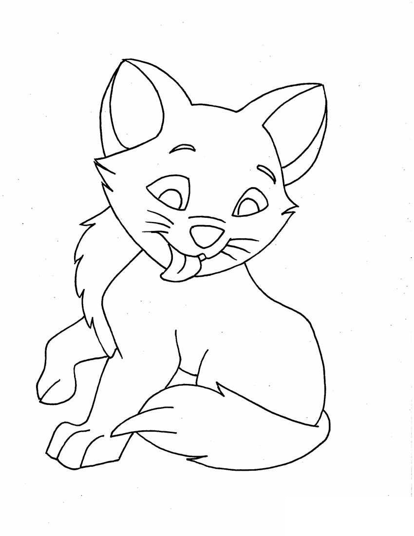 cats pictures to color cat for kids simple drawing cats kids coloring pages cats to pictures color