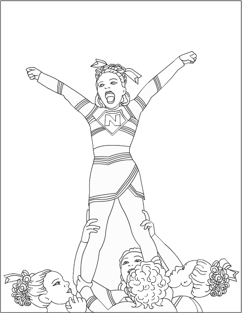 cheerleading coloring pages cheer coloring pages to download and print for free coloring cheerleading pages