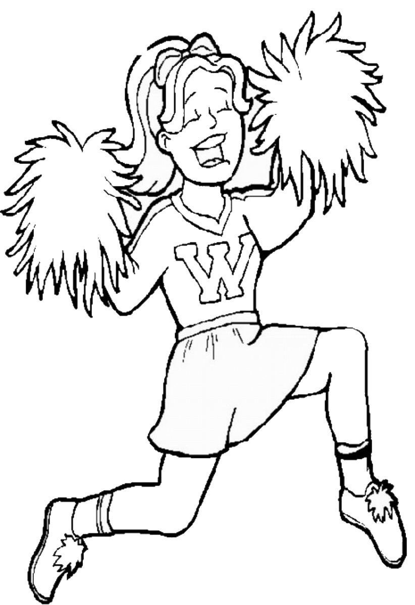 cheerleading coloring pages cheerleading coloring pages birthday printable cheerleading pages coloring