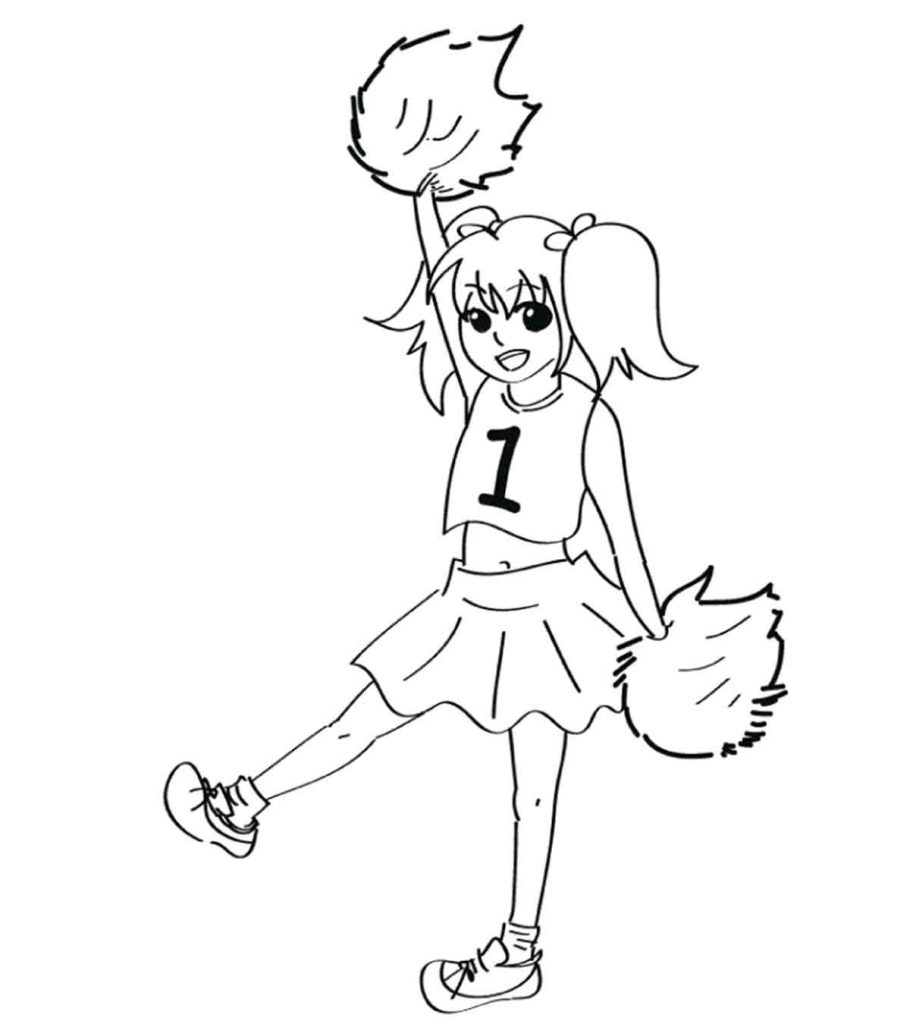 cheerleading coloring pages cheerleading coloring pages cheerleading pages coloring
