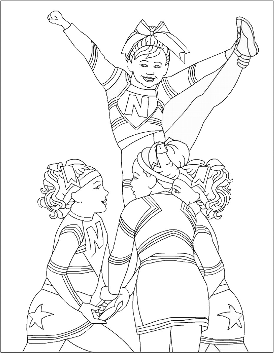 cheerleading coloring pages free printable cheerleading coloring pages for kids cheerleading coloring pages