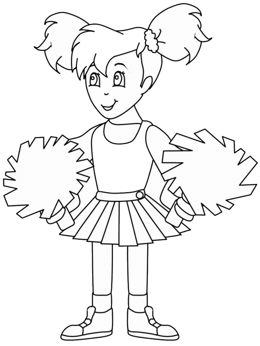 cheerleading coloring pages free printable cheerleading coloring pages for kids cheerleading pages coloring