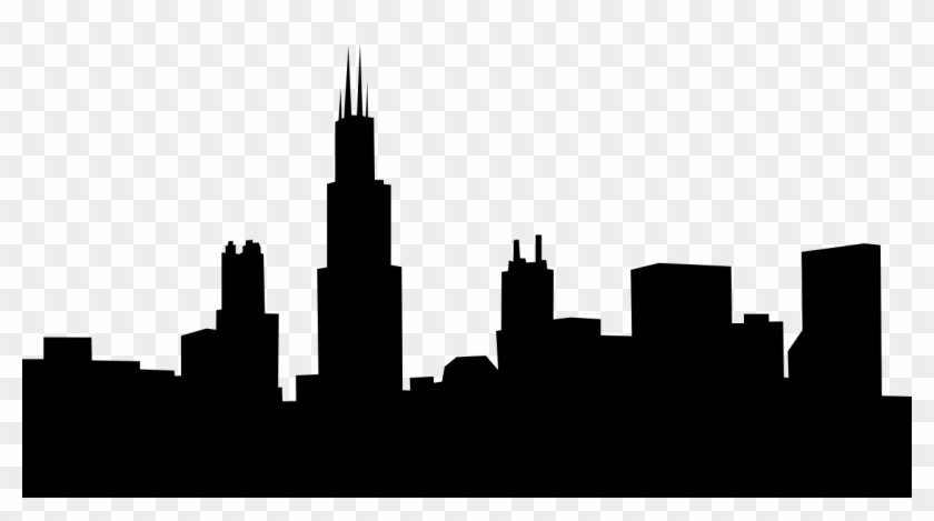 chicago skyline outline chicago skyline silhouette wallpaper at getdrawings free outline chicago skyline