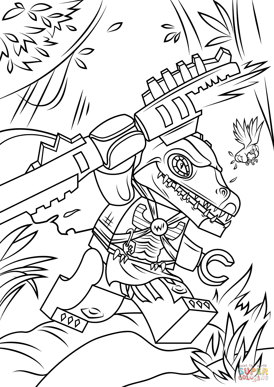 chima coloring page chima coloring pages rhino rogon coloring4free page coloring chima