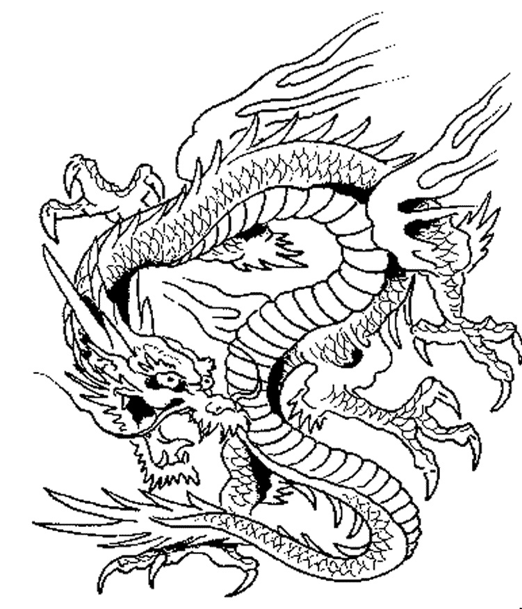 chinese dragon coloring chinese dragon from imperial encyclopaedia coloring page coloring dragon chinese
