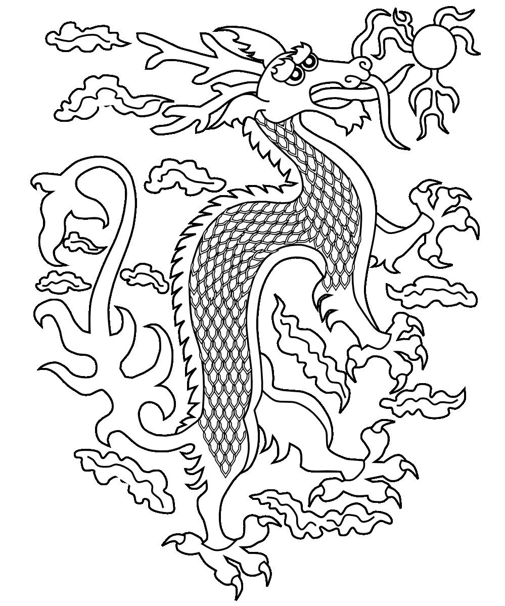 chinese dragon coloring free printable chinese dragon coloring pages for kids coloring dragon chinese 1 1