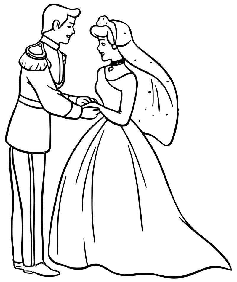 cinderella wedding coloring pages cinderella and prince charming kiss coloring pages wedding coloring cinderella pages