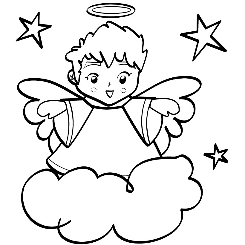 coloring angel kids angel coloring pages getcoloringpagescom angel kids coloring