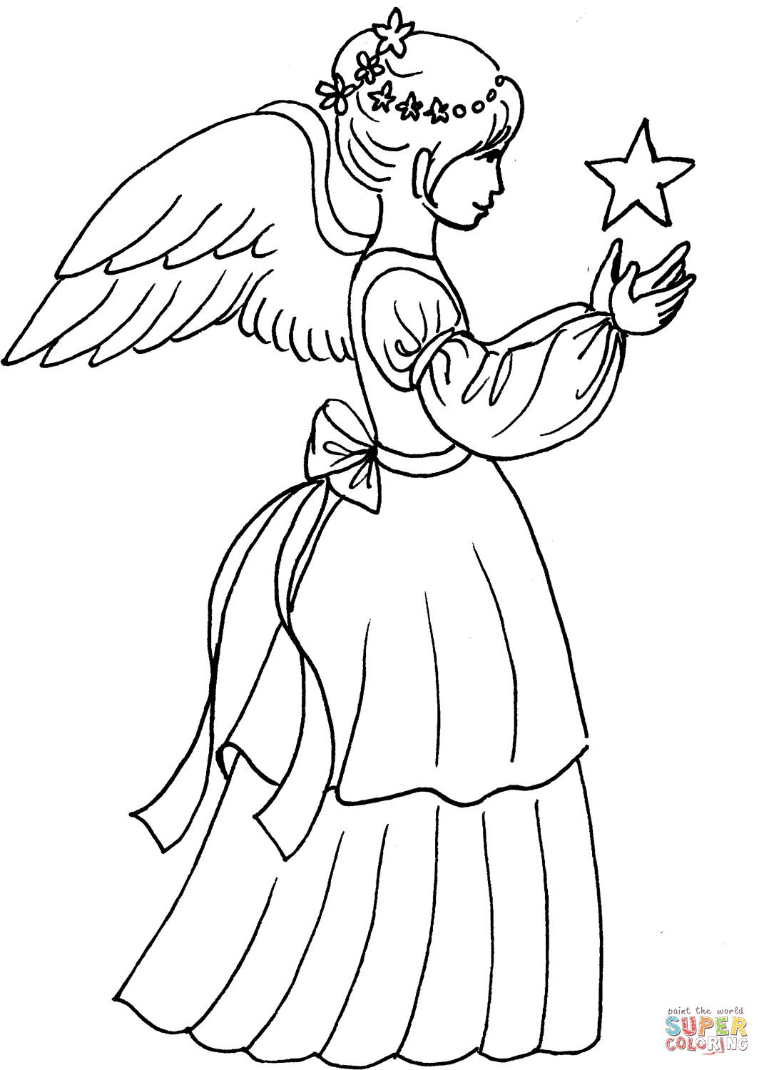 coloring angel kids found on bing from wwwsupercoloringcom angel coloring angel coloring kids