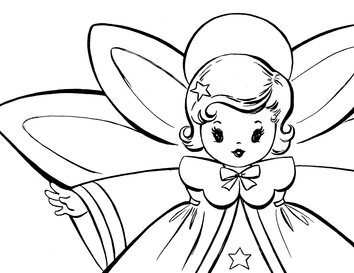 coloring angel kids free christmas coloring pages retro angels the kids coloring angel