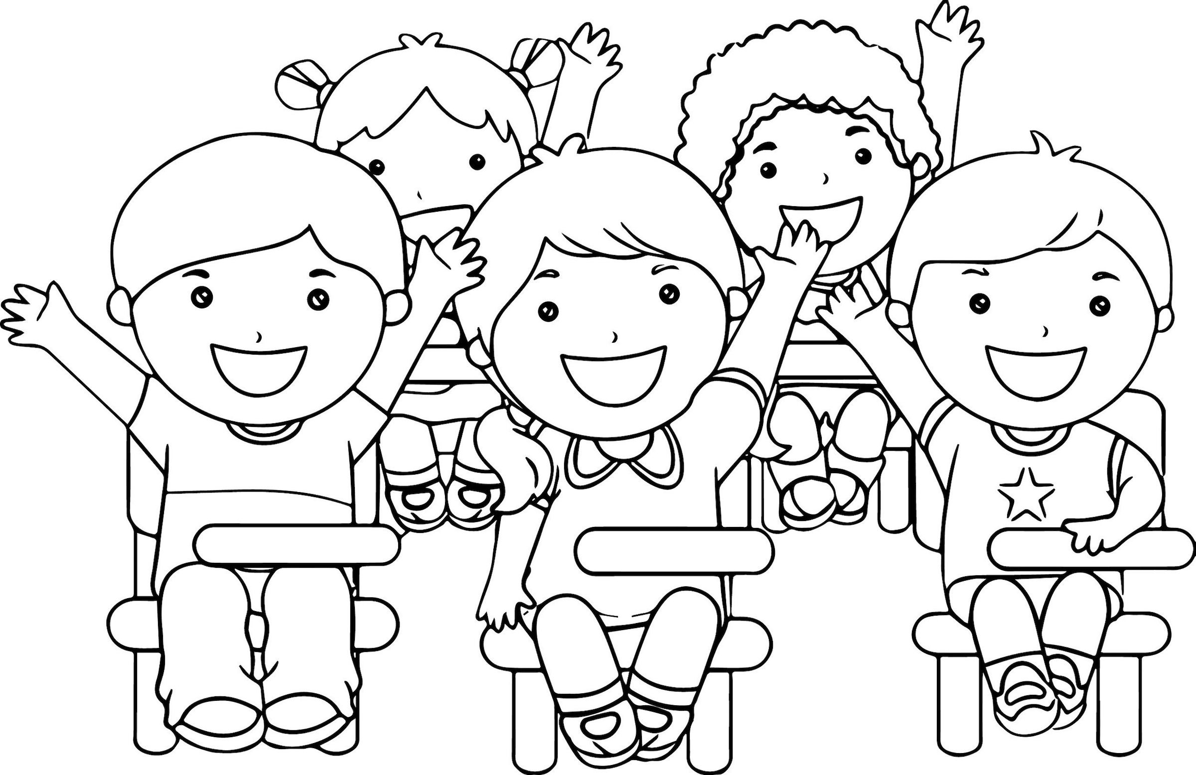 coloring clipart of kids clipart for preschool on clip art graphics and clipartix clipart coloring kids of