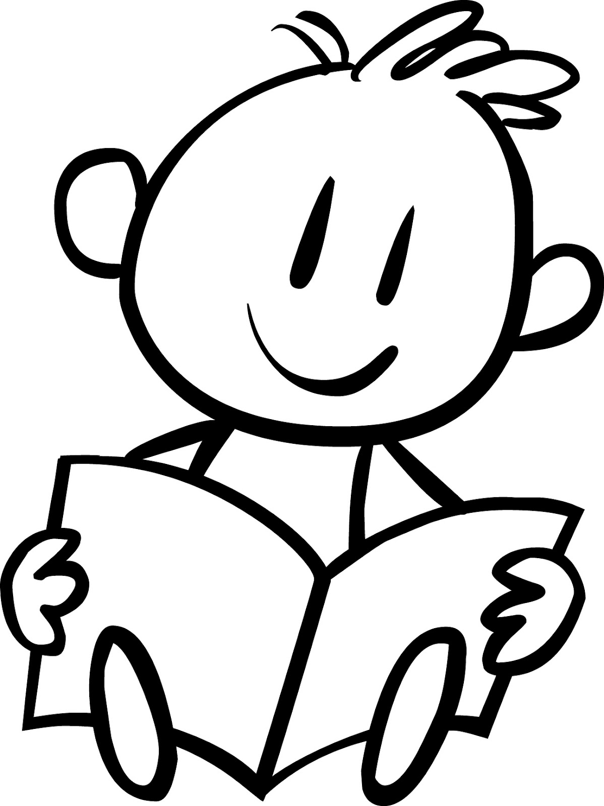 coloring clipart of kids line art of little boy reading free clip art coloring clipart kids of
