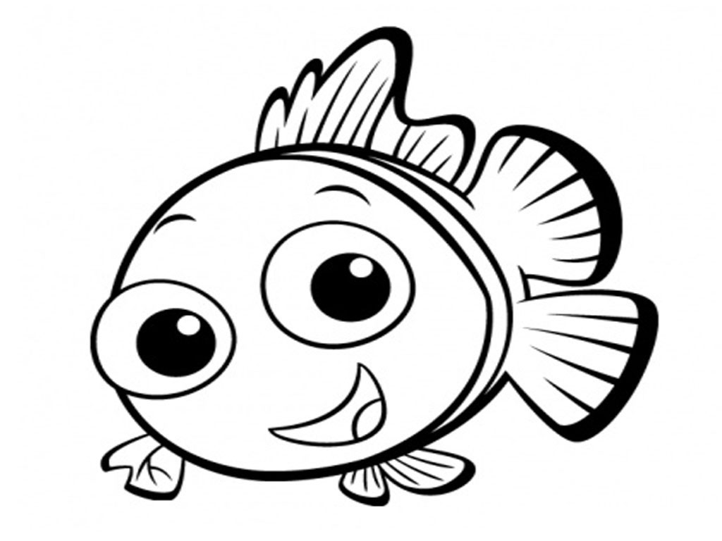 coloring cute cartoon fish jellyfish clipart black and white free download on cute cartoon coloring fish