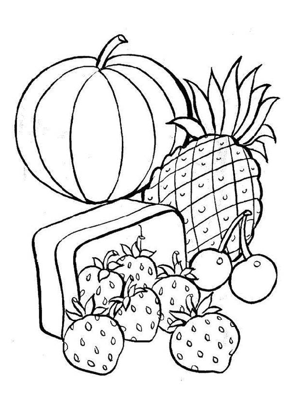 coloring fruits and vegetables images free coloring pages of vegetable gardens and vegetables fruits images coloring