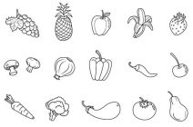 coloring fruits and vegetables images lines of fruits and vegetables coloring page kids play color images fruits vegetables coloring and