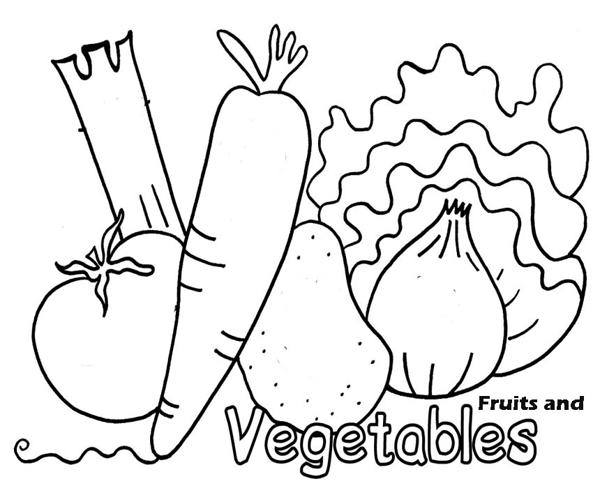 coloring fruits and vegetables images vegetables drawing for kids at paintingvalleycom and vegetables coloring images fruits