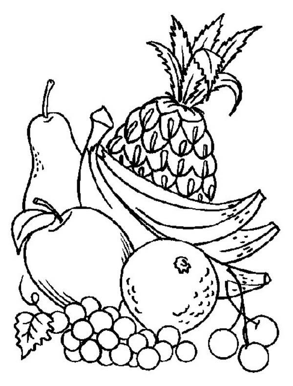 coloring image fruits 5 fun fruit activities for families happy and blessed home fruits coloring image