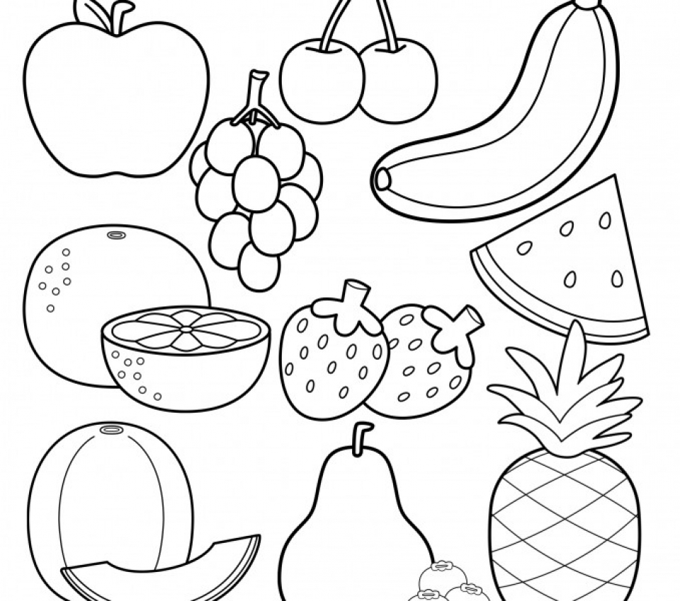 coloring image fruits fruit coloring pages for childrens printable for free coloring fruits image