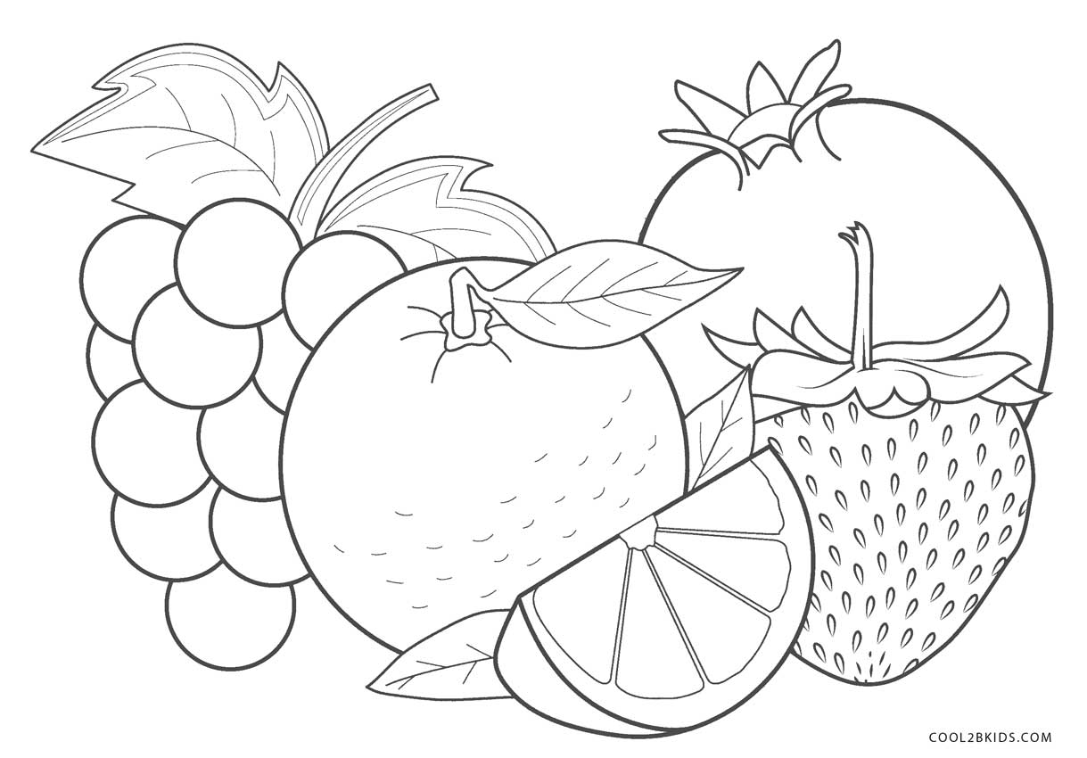 coloring image fruits fruit coloring pages for childrens printable for free fruits image coloring