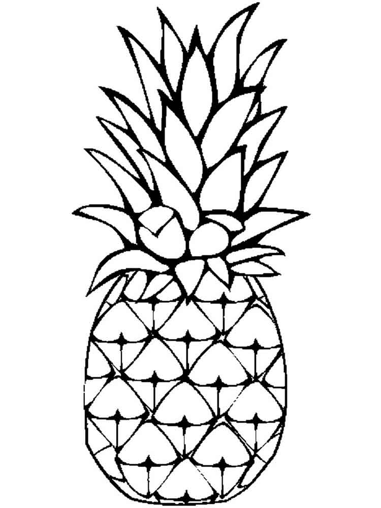 coloring image fruits pineapple coloring pages download and print pineapple coloring image fruits