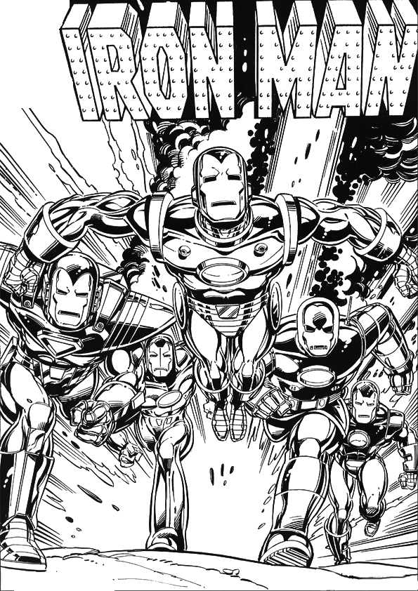 coloring iron man free printable iron man coloring pages for kids coloring man iron