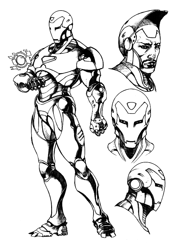coloring iron man free printable iron man coloring pages for kids man coloring iron