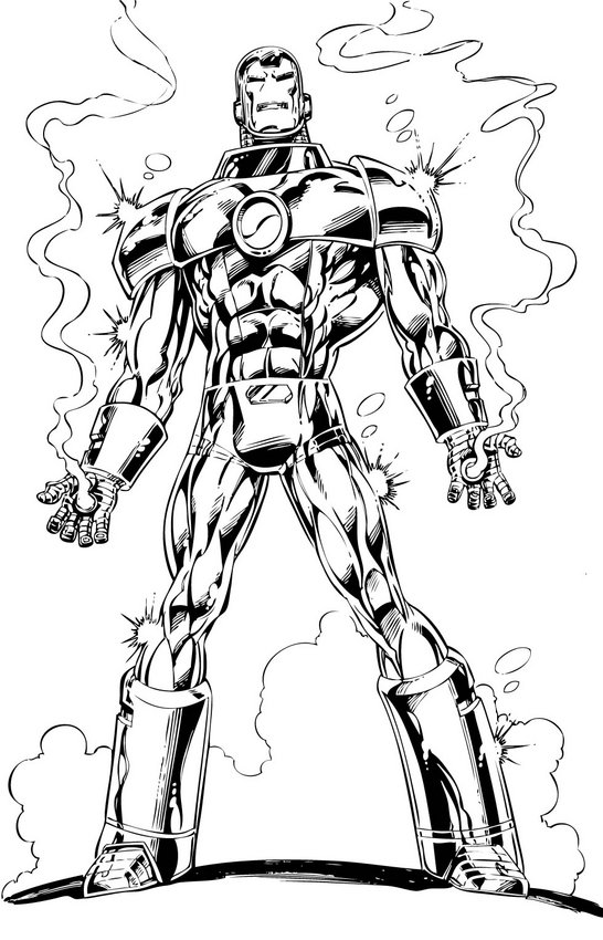 coloring iron man iron man the avengers best coloring pages minister man iron coloring